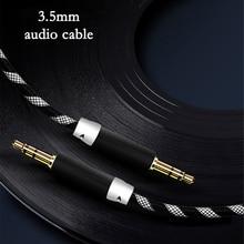 3,5 мм Aux аудио кабель папа-папа плетеные кабели нейлон автомобильный мобильный телефон Соединительный кабель Шнур стерео динамик линия в адаптер