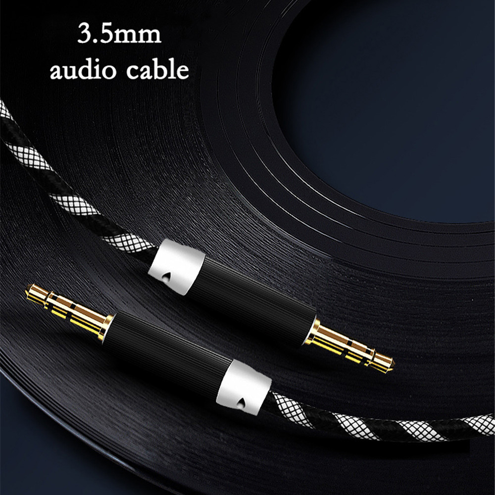 3.5mm Aux Audio Cable Male To Male Braided Cables Nylon Car Mobile Phone Connection Cable Cord Stereo Speaker Line In Adapter