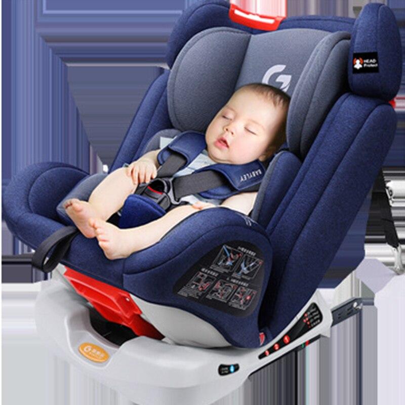Automobile del bambino di Sicurezza Seggiolino 0-12Y Portatile Del Bambino Booster Car Seat Cinque Punti di Attacco Del Bambino Seggiolino Auto 9months-12 anni di età