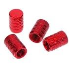 4Pcs Aluminium red c...