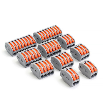 PCT-212 213 214 215 218 Universal Cable wire Fast Connectors ,Compact wire Conductor Connection push in Wiring Terminal Block wire connectors 222 412 413 415 mini fast wire cable conectors universal compact wiring conductor push in terminal block china