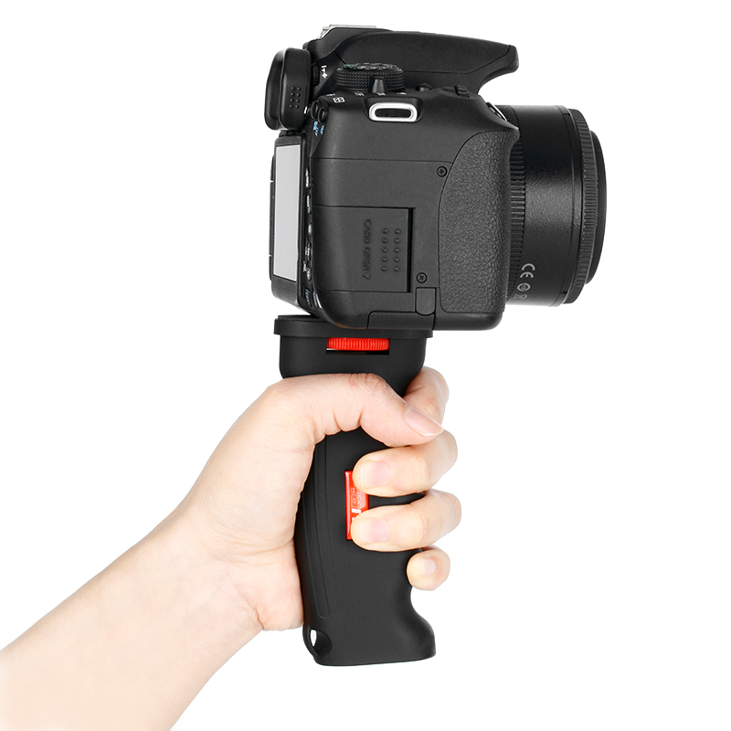 UURig R003 Hand Grip Stabilizer Holder Universal Plastic Handle for Gopro Action Camera DSLR SLR Camera Smartphone 1/4 Screw Vlo-4