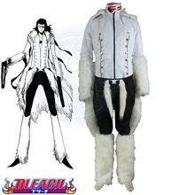 Conjunto de disfraz de Cosplay de Anime, Cosplay de la serie Bleach The Tercera Espada No.1, Coyote, Starrk, con forma de Kimono blanco