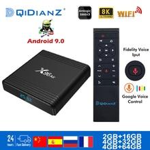 مربع التلفزيون الذكية x96Air أندرويد 9.0 8K المزدوج واي فاي BT Netflix مشغل الوسائط اللعب مخزن التطبيق المجاني سريع تعيين صندوق علوي X96 الهواء PK HK1MAX H96