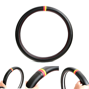 Image 4 - Srxtzm capa para volante automotivo, capa de fibra de carbono com 38cm para bmw x1 x3 x5 x6 e36 e39 e46 e30 e60 e90 f30 320i 325i 330i