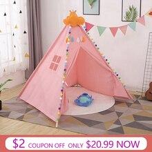 11 видов большой вигвама палатка хлопок холст вигвам детская палатка детский игровой домик для девочек игровой дом Индия треугольник палатка декор комнаты