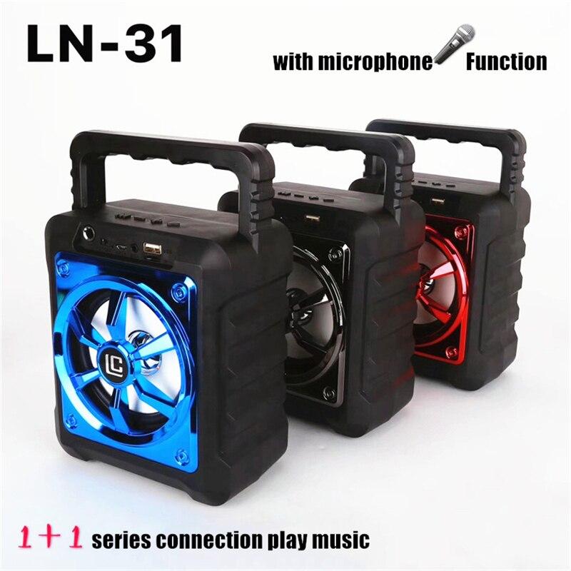 LN31 Super Deep Bass Bluetooth Speaker Support Microphone 1200MAh 3D Portable Wireless 5W