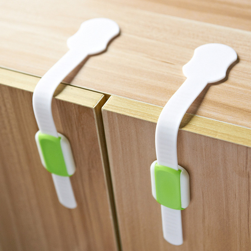 4Pcs/lot Baby Safety Drawer Lock Cabinet Lock Adjustable Safety Lock Fashion Safety Lock 2colors