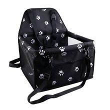 Усиленное автомобильное сиденье для домашних животных, переносная и дышащая сумка с ремнем безопасности для собак, безопасная переноска для путешествий