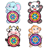 Cartoon Dart Board Games Children Target Sticky Ball Dart Board Interactive Toys Classic Throw Toys Funny Games Kit kids Gift