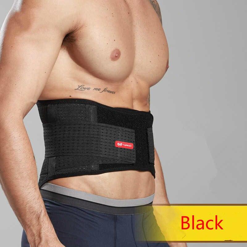 Gym Lumbar Belt Orthopedic Back Waist Support Brace Fitness Protection For Men Women Sport Safety Belt With PVC Bone Breathable