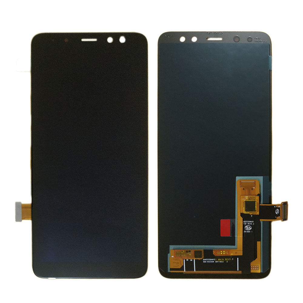 For <font><b>Samsung</b></font> Galaxy A8 2018 A530 A530F A530DS LCD display Touch Screen Digitizer Assembly A8 2018 LCD A530FD amoled Screen incell image