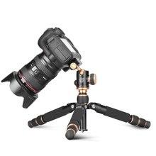 "Q166 21 ""/54cm נייד קומפקטי שולחן העבודה קל מאקרו מיני שולחן חצובה עם כדור ראש עבור Canon ניקון sony DSLR וידאו מצלמה"
