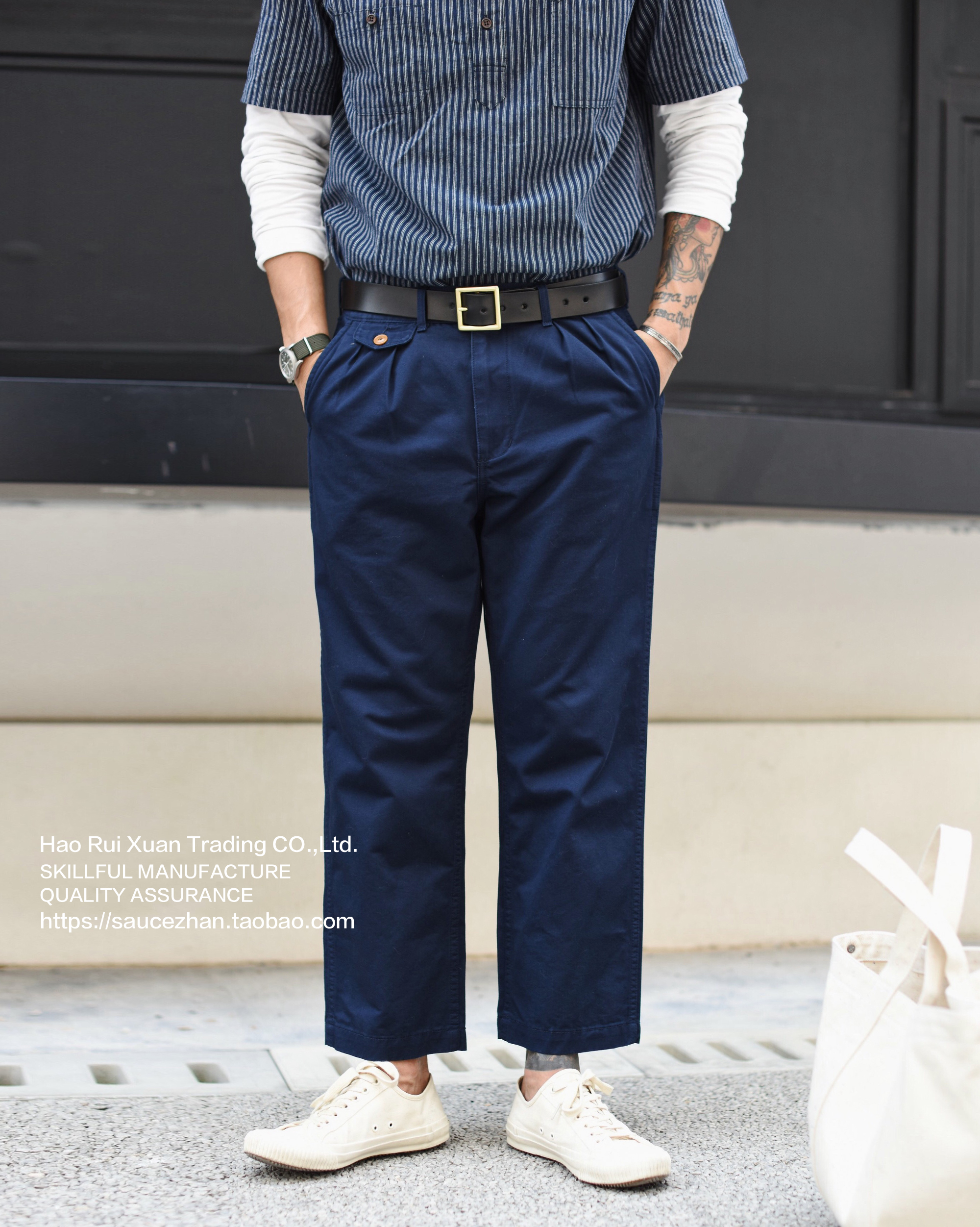 Men Ankle-Length American Casual Chino Pants