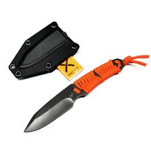 Składany nóż przenośny samoobronny odkryty camping prosty nóż spadochroniarz liny nóż składane noże tanie tanio freewolf Maszyny do obróbki drewna CN (pochodzenie) STAINLESS STEEL DJ082901 Fixed blade knife