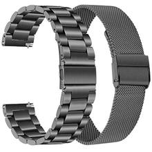 Нержавеющая сталь наручный ремешок для смарт-часов Garmin Vivoactive 4 3 4S Смарт-часы металлический ремешок для подход S40 S60 браслет аксессуары Correa