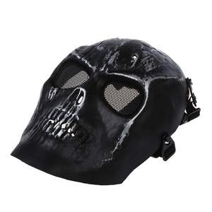 Image 2 - Leger Schedel Skelet Airsoft Paintball Bb Gun Full Face Game Bescherm Safe Mask Zilver Zwart