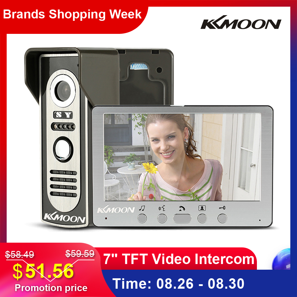 Kkmoon Video-Intercom Door-Phone Ir-Camera Visual Waterproof Outdoor Wired TFT LCD