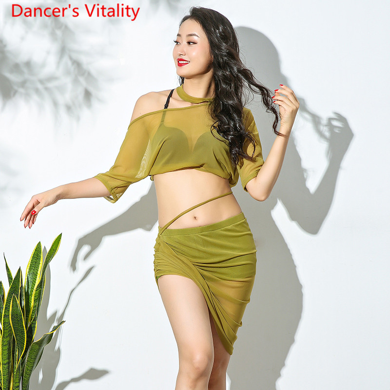 New Belly Dance Costume Comfortable Water Garn Exercise Suit Women Dance Competition Clothes 3 Colors