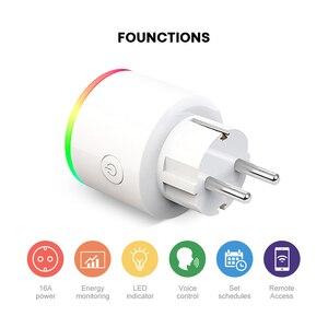 Image 3 - Умная розетка AVATTO, беспроводная вилка 16 А, разъем EU, подсветка RGB, счетчик потребляемой мощности, Wi Fi, Google Home, голосовое управление Alexa