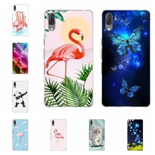 For Sony Xperia L3 Case Ultra-thin Soft TPU Silicone Cover Butterflies Pattern Funda Capa