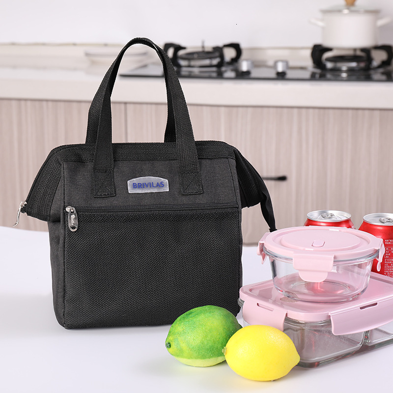 Cute Waterproof Canvas Insulated Thermal Cooler Lunch Box Carry Tote Storage Bag Bolsa Termica