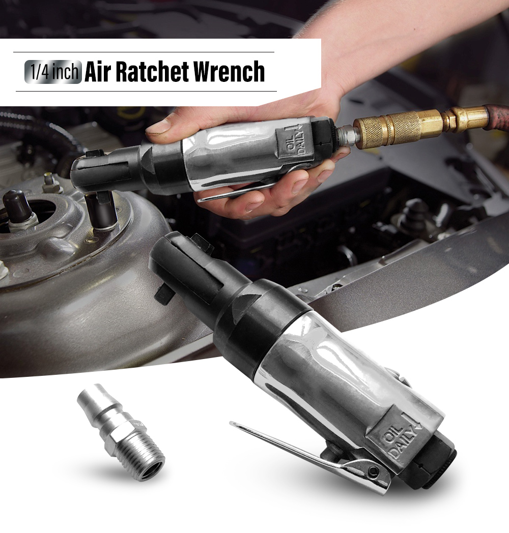 90psi Square Drive Straight Shank Air Ratchet Wrench Professional Pneumatic Ratchet Wrench 1/4