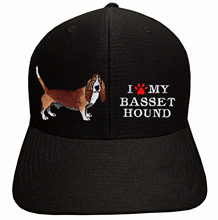 Stampato I LOVE MY BASSET HOUND-Fresco e Asciutto Berretto da baseball Del Cappello Regolabile Pet Dog(China)