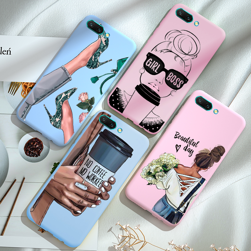 For <font><b>Huawei</b></font> <font><b>Honor</b></font> <font><b>8X</b></font> 8A 8S 8C 9X Premium 9i 9 Lite 7A Pro 7C Aum-L41 Case TPU Silicone Cute Candy Soft Back Cover image