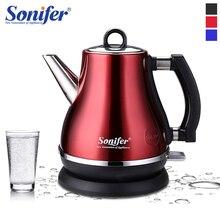 Беспроводной электрический чайник Sonifer 304, яркий корпус 1,2 л, 1500 Вт, быстрый нагрев, нержавеющая сталь