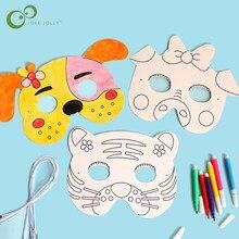 8 pièces dessin animé Animal peinture masque bricolage couleur maternelle Graffiti Art artisanat jouets créatifs dessin jouets pour enfants enfants GYH