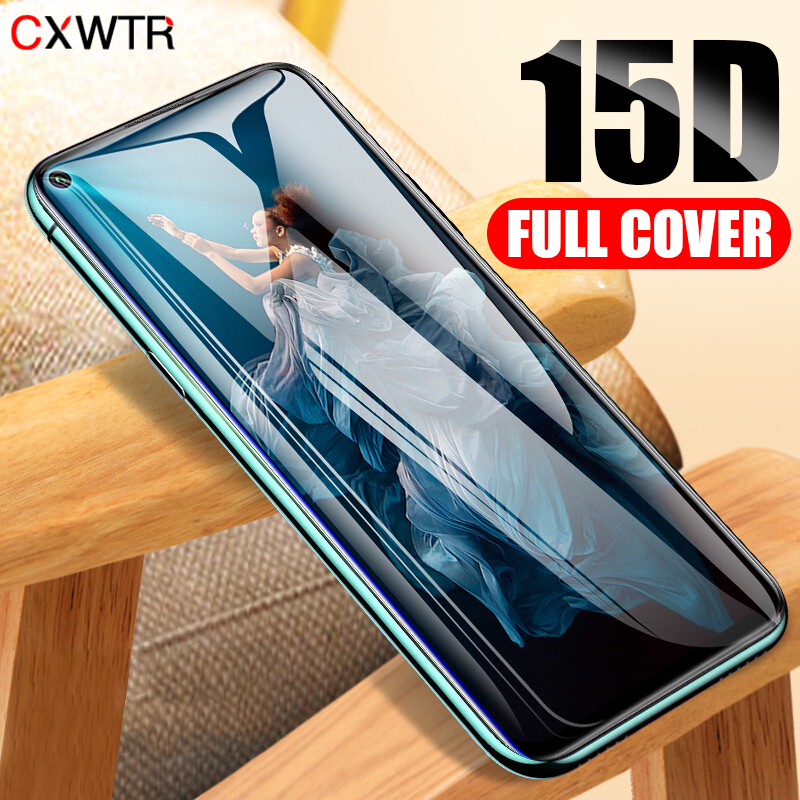 15D Full Cover Tempered Glass On For Huawei P30 Lite P20 Pro Screen Protector Film For Honor 10 9 Lite 20 Pro Protective Glass