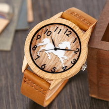 Creative Wooden Watch Men Ostrich Deer Wristwatch Imitation Imitate Woo
