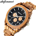 Shifenmei часы мужские классические часы Топ Роскошные relogio masculino деревянные часы хронограф кварцевые наручные часы рождественские подарки