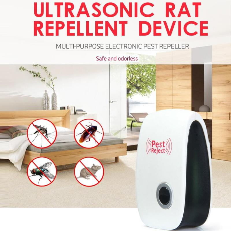 New Rodent Control Indoor Cockroach Mosquito Insect Killer Ultrasonic Pest Repeller Electronic Mosquito Repellent EU/US/AU Plug