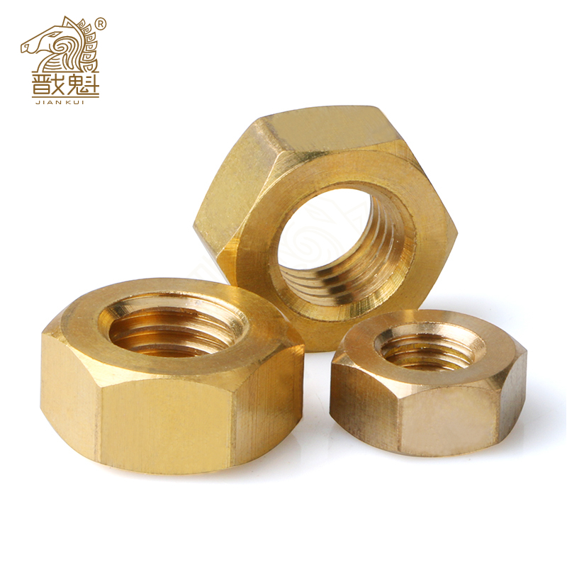 5/100pcs DIN934 Solid Brass Copper Hex Hexagon Nut for M1 M1.2 M1.4 M1.6 M2 M2.5 M3 M4 M5 M6 M8 M10 M12 Screw Bolt Metric Thread