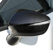لمازدا CX3 2016 2017 CX 3 ألياف الكربون الرؤية الخلفية مرآة غطاء الكسوة الأسود اكسسوارات السيارات التصميم 2 قطعة LHD و RHD