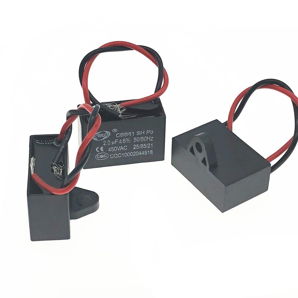 1pcs Only Good Quality CBB61 450v 1uf 1.2uf 1.5uf 1.8uf 2uf 2.5uf 3uf 3.5uf 4uf 4.5uf Starting Capacitor For AC Fan 450v CBB61