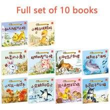 10 livros história chinesa bebê pinyin imagem pequeno crescimento animal histórias livro crianças libros livres libro livro kitaplar