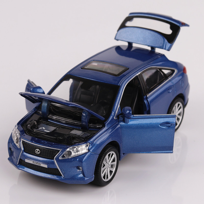 1:32 Scale Cars Zinc Alloy Model For LEXUS Rx450 King Of Sound Light Car Pull Back Kids Toys Boys Truck Toy Plane Model