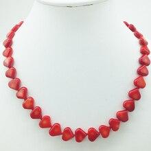 """Настоящее, изысканное ожерелье из натурального коралла. Женское банкетное ювелирное ожерелье. 18"""""""