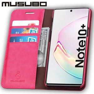 Image 3 - Muselo caso de luxo para samsung galaxy note 10 capa de couro genuíno para funda nota 9 aleta carteira s20 s10e s10 + cartão telefone coque
