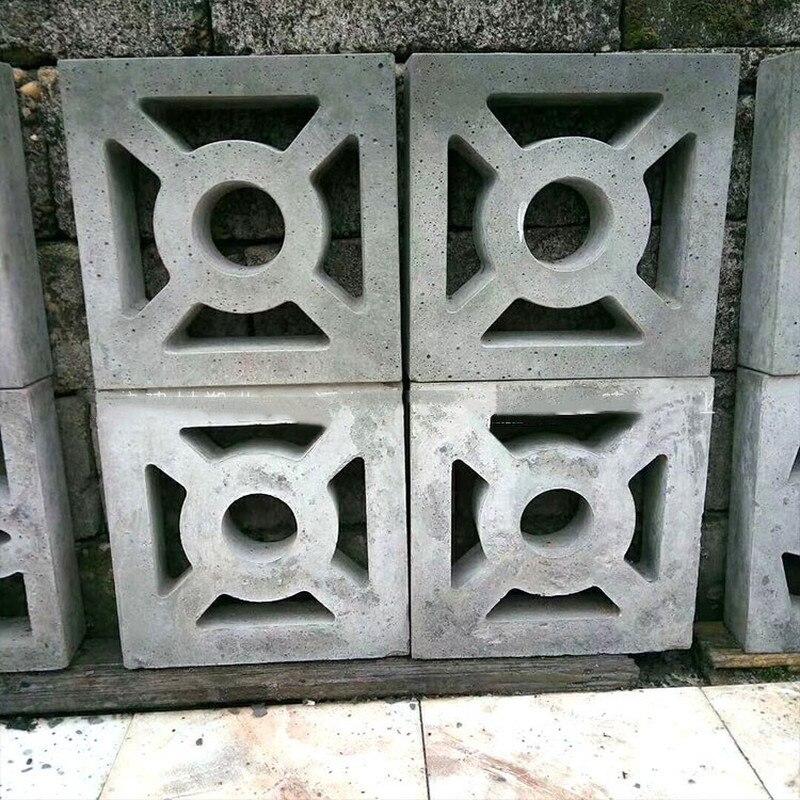 Cement Antique Brick Mold Square Garden Window Making Brick Mould 3D Carving Anti-Slip Concrete Plastic Paving Molds 30x30x7cm
