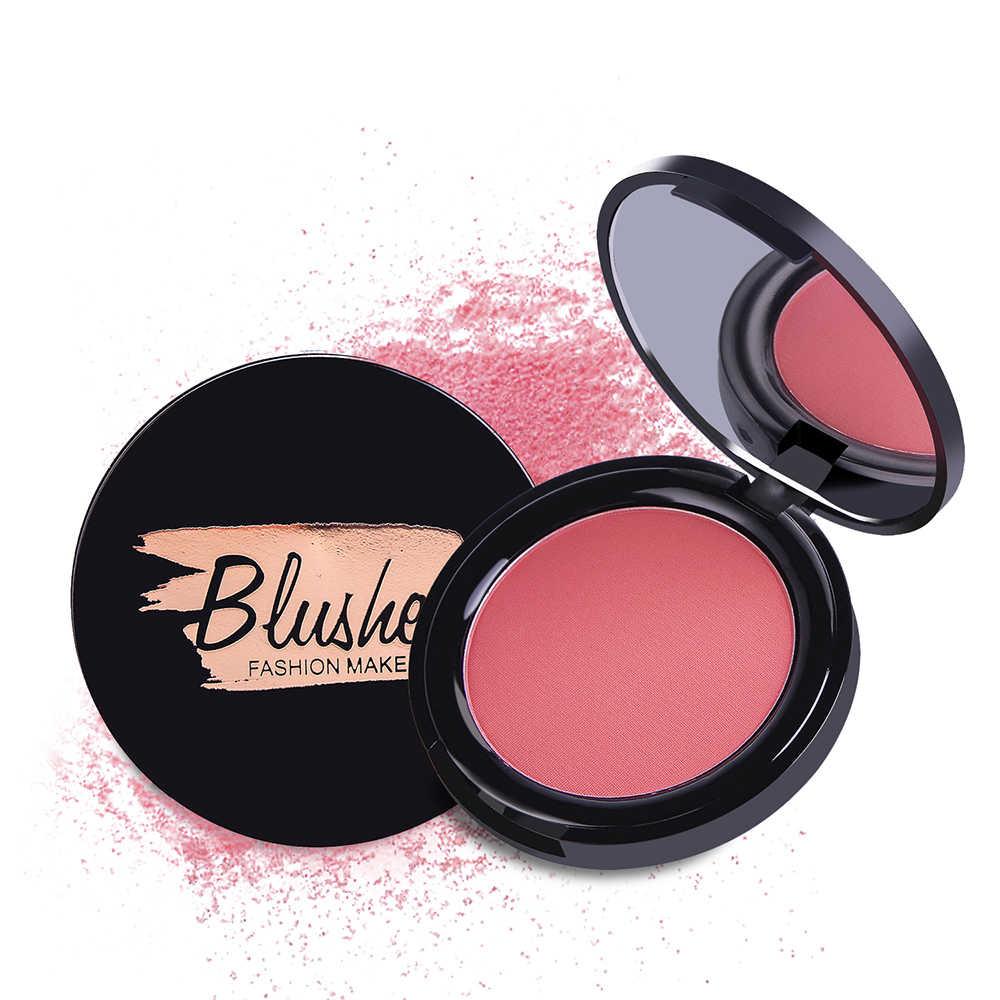 6 Warna Blush Kosmetik Bubuk Tahan Lama Pipi Matte Perona Pipi Pigmen Wajah Mineral Dasar Palet Tahan Air Makeup Pemalu