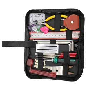 Image 2 - Guitar Repairing Tool Kit(26Pcs) Wire Plier,String Organizer,Fingerboard Protector,Hex Wrenches, Files, String Ruler Action Rule