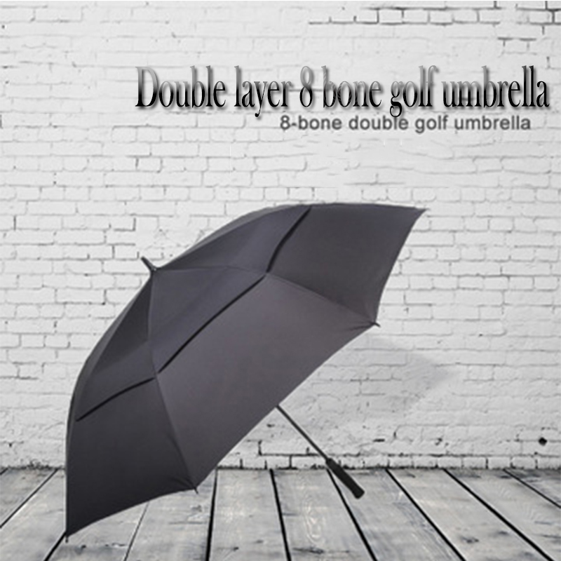 Men's Classic Business Double Golf Umbrella Strong Wind And Rain Semi AutomaticLong Umbrella Ladies UV Umbrella|Umbrellas|Home & Garden - title=