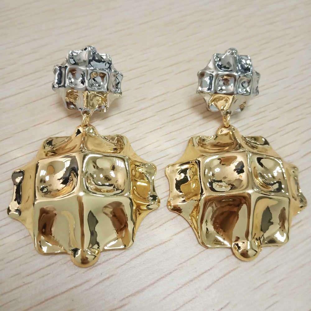 Di Rame Orecchini in Oro Monili Caldi di Disegno per Le Donne Africane Orecchini Regalo di Nozze Orecchini di Grande Formato