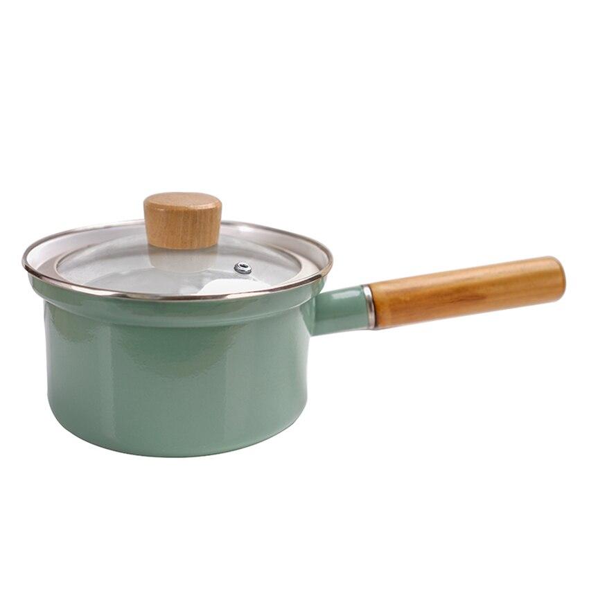 18cm Enamel Non-Stick Soup Noodles Pot With Lid 5