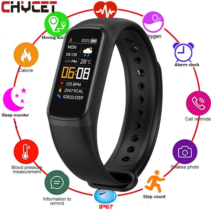 CHYCET Smart Armband Herz Rate Blutdruck Fitness Tracker Armband WhatsApp Erinnerung Smart Band Uhr Für Männer Frauen Kinder