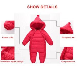 Image 4 - 3 uds. Ropa de Otoño Invierno para recién nacidos, chaqueta de plumas para bebés, niños y niñas, abrigo cálido para escalar, peleles gruesos para niños, prendas de vestir exteriores